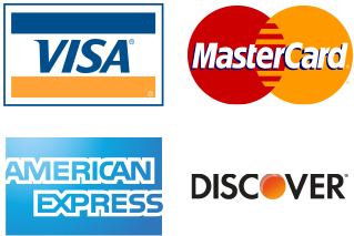 Credit Cards Accepted Visa, Mastercard, American Express, Discover